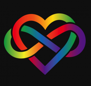 rainbow heart with intertwined infinity sign | Montrose, CO 81401