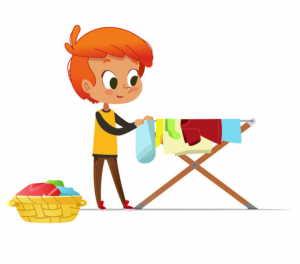 cartoon of a person folding laundry | Montrose, CO 81401
